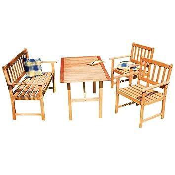 Gartenmöbel set holz mit bank  Diverse Gartenmöbel-Set aus Holz mit Bank und 2: Amazon.de: Elektronik
