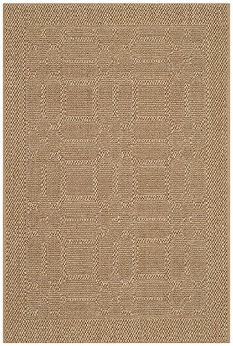 Collection PAB323M Maize Sisal & Jute Area Rug (2' x 3') (Palm Sisal Rug)