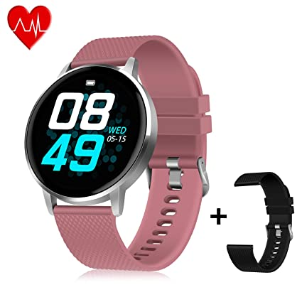 GOOJODOQ Smart Watch, Smartwatch for Men Women Kids Compatible Android iOS, IP67 Waterproof, Fitness Activity Tracker with Heart Rate Monitor & Blood ...