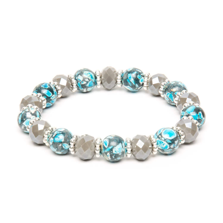 Blue Howlite Stretch Bracelet