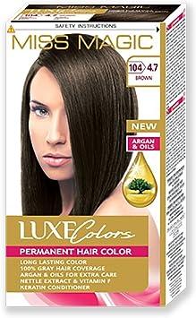 Tinta para pelo Miss Magic Tinte Marrón Hair Colour con Argan ...