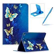 Leather Case for iPad Air 2,Flip Wallet Cover for iPad 6,Herzzer Stylish Pattern Magnetic Closure Purse Folio Smart Stand Cover with Card Cash Slot Soft TPU Inner Case for iPad Air 2/iPad 6