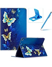 Leather Case for iPad Air 2/iPad 6,Flip Wallet Cover for iPad Air 2/iPad 6,Herzzer Stylish Luxury Butterfly Pattern Magnetic Closure Purse Folio Smart Stand Cover with Card Cash Slot Soft TPU Inner Case for iPad Air 2/iPad 6