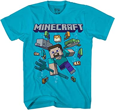 Minecraft Character Select Big Boys Youth T-Shirt Licensed