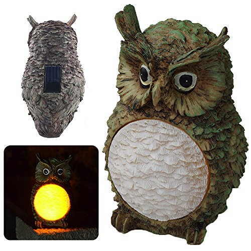 LED Garden Light Owl Design Solar Energy Waterproof Light Control