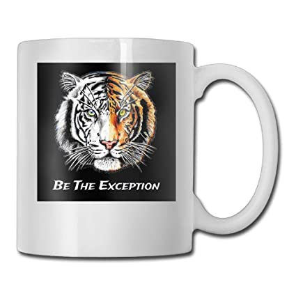 amazon com huazhen be the exception ceramic travel mug custom
