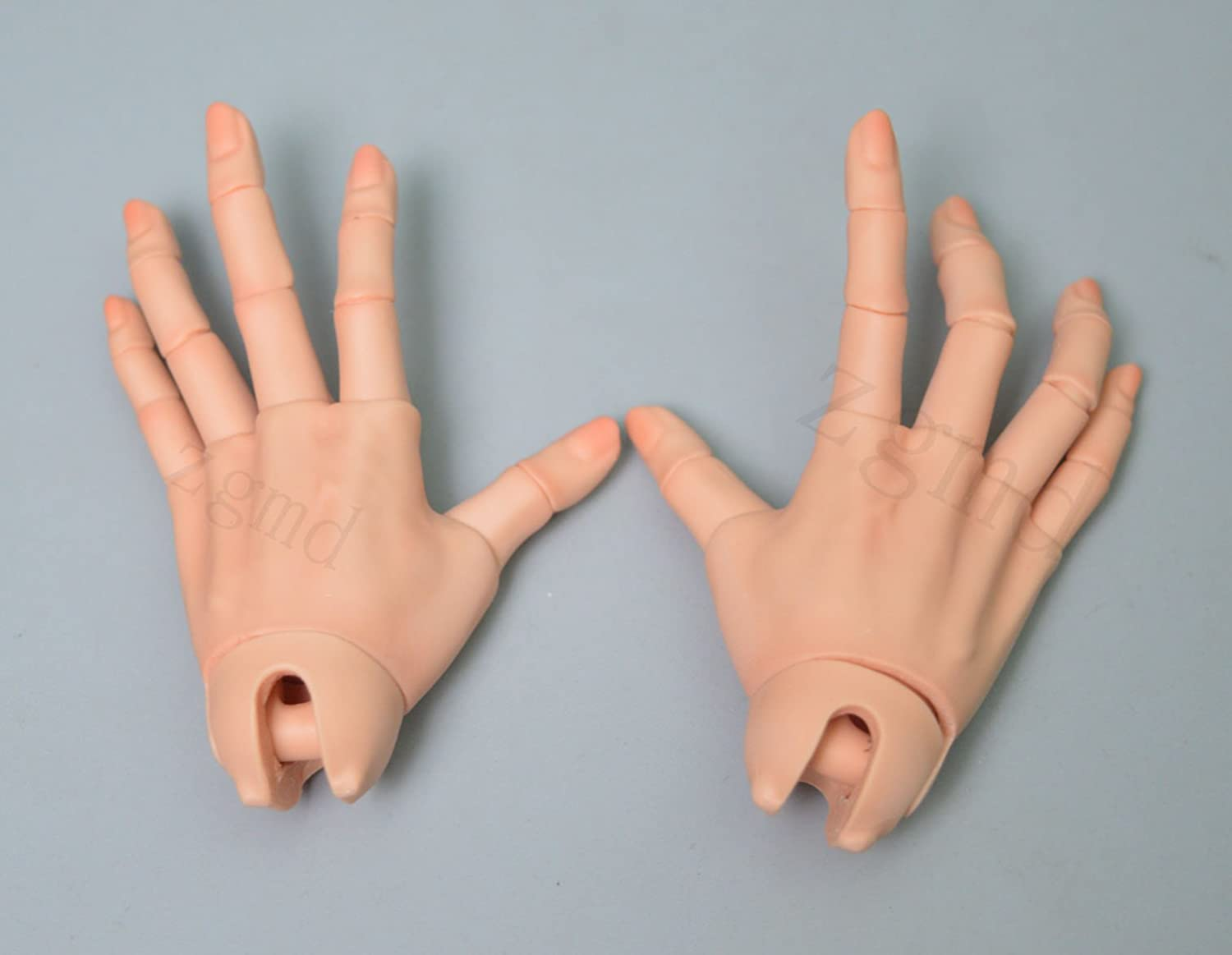 1//3 bjd doll sd doll ball jointed hands pair Particularly long nail hands