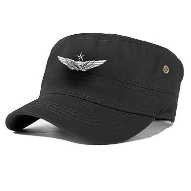 Not Applicable Gorra de Estilo Militar de aviación con ala de ...