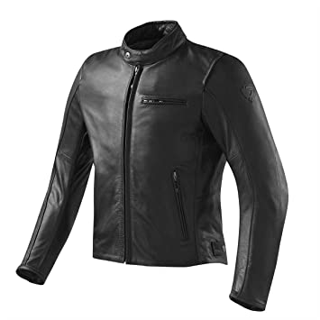 REVIT - Chaqueta De Cuero Flatbush Vintage - Color - Negro: Amazon.es: Coche y moto