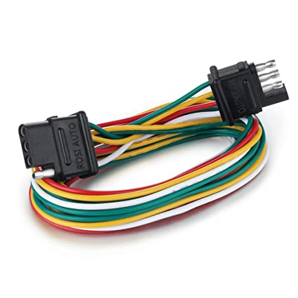 Amazon.com: ROSI 6ft 4 Wire 4-Flat Trailer Light Wiring Harness Kit on 4 flat mounting bracket, 3 flat wiring harness, toyota sequoia 2001 2007 towing harness, 4 flat connector, 4 flat wiring adapter, molded connector 6-way trailer harness, 4 point wiring harness, 7 flat wiring harness, 4 flat tires, 4 flat engine,