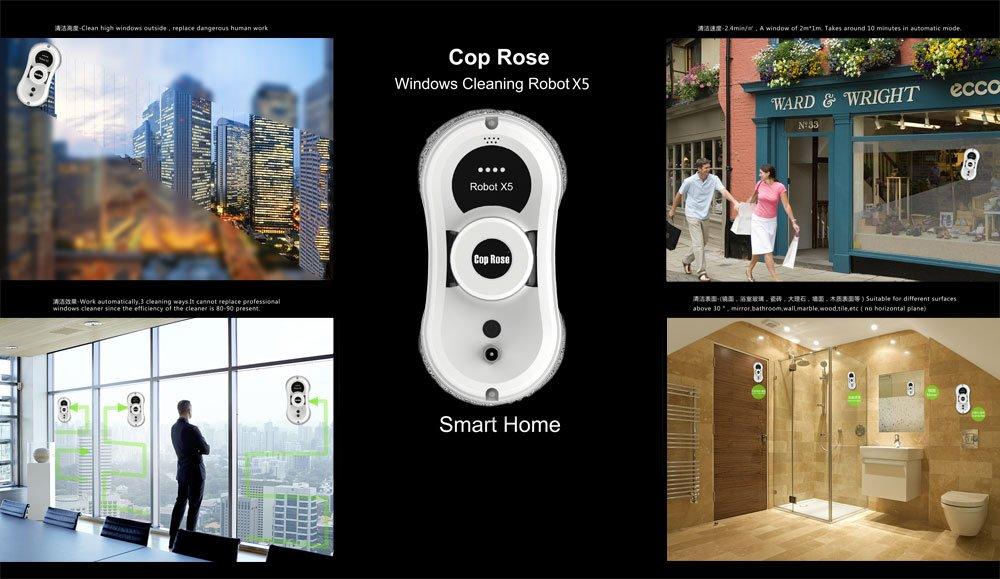 CP rosa magnético interior exterior alta Tall ventana robot de ...