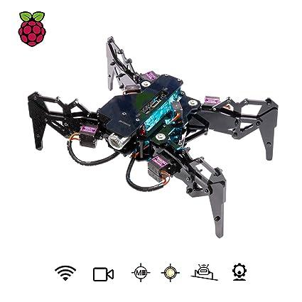 Amazon com: Adeept DarkPaw Bionic Hexapod Spider Robot Kit for