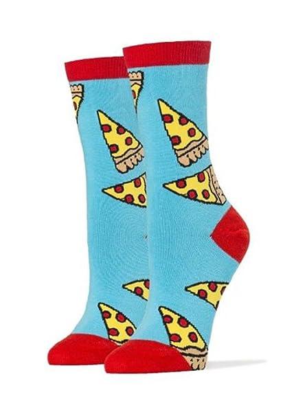 Socks Pizza Party One Size Se adapta a la mayoría de los calcetines Blue Ladies Crew: Amazon.es: Ropa y accesorios