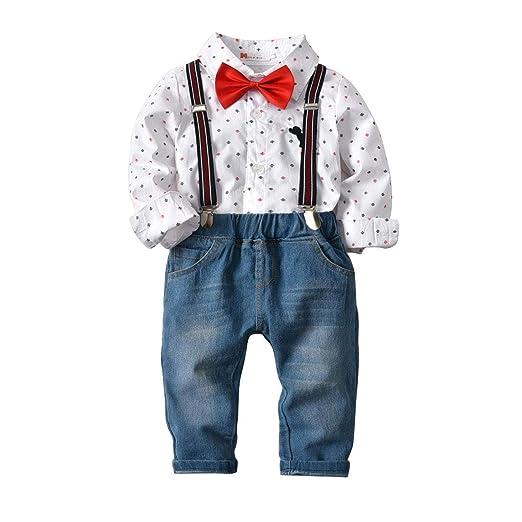 ZXB Ropa del bebé Bebés Trajes Establece Gentleman 4 Piezas ...