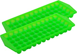 product image for Arrow Mini Ice Cube Trays, 2pk -Easy to Use Flexible Ice Cube Trays Great for Sports Bottles, Blenders, Cocktails and More -Stackable BPA Free Ice Cube Mold with 60 Mini Cube Spaces Per Ice Tray-Green