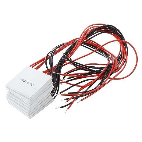 10 pcs TEC1-12706 Cooler Peltier Effect Thermoelectric Module 12V 60W 72W