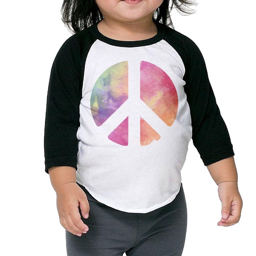 KHAZ88z Beautiful Color Splash Peace Gift Kid 3//4 Raglan T-Shirts 3//4-Sleeve Raglan Tee 100/% Cotton Round Neck