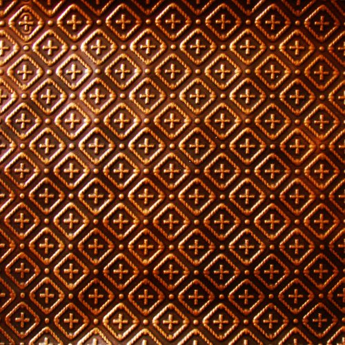 Decorative Hammered Roof Accent (Kitchen Backsplash Faux Decorative Antique Copper Plastic WC-70 Wall Covering Fire Rated - 25ft. Roll X 2ft.glue On,nail On,staple On,tape On!)