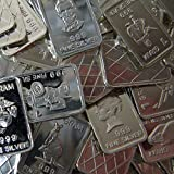 Five One Gram .999 Pure Silver Bars With Proof LIke Finish In a Vx Investments Microfiber Pouch