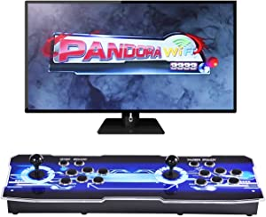 Ai CAR FUN [3333 Games in 1 Arcade Game Console Upgrade WiFi Function Full HD Retro Video Arcade Game Console 2 Players 3D Pandora's Box with 3333 Retro Games for PC/Laptop/TV/PS3