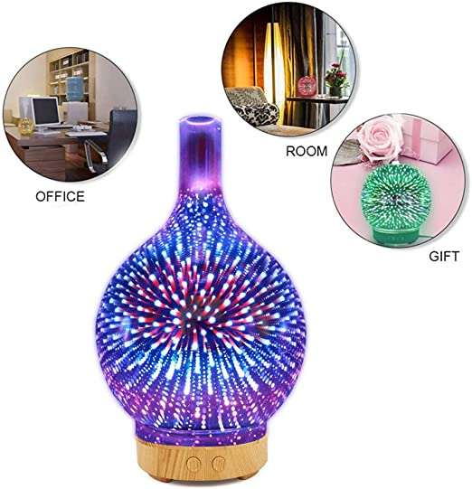 Aigoceer Essential Oil Diffuser Ocean Theme Diffusers for Essential Oils Ultrasonic Aromatherapy Diffuser Cool Mist humidifier Waterless Auto Shut-off and 7 Color LED Lights Changing for Home Office