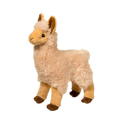 Douglas Jasper Golden Llama Plush Stuffed Animal: Toys & Games