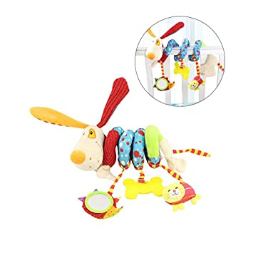 TOYMYTOY Spiral Stroller Toy Baby Educational Plush Toys Crib Car Seat Hanging