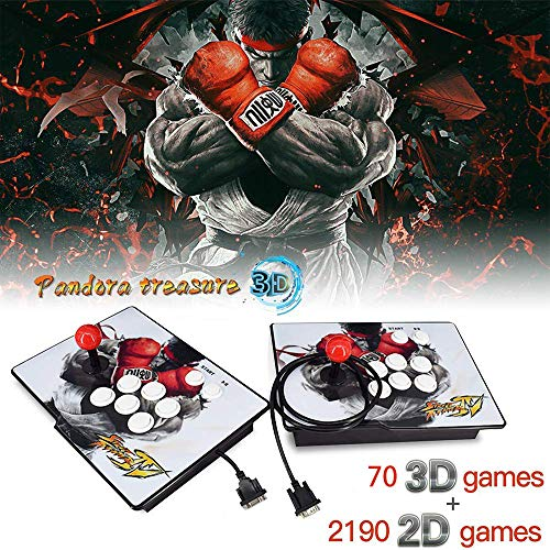 XFUNY Arcade Game Console 1080P 3D & 2D Games 2260 in 1 King of Fighters Pandora's Box 3D 2 Players Arcade Machine with Arcade Joystick Support Expand 6000+ Games for PC / Laptop / TV / PS4 (Best Marvel Games For Pc)