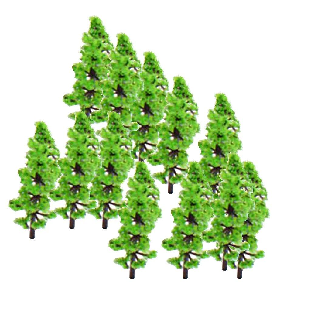 PIXNOR 100pcs Model Fir Tree Trunks Set Train Scenery Landscape 1:160-1:220 Green