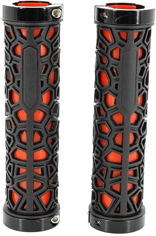 Apretones de Bicicletas Puños de Manillar de Bicicleta, Puños de Manillar Bicicleta MTB Road Mountain Bike Manillar de Goma Suave para el Ciclismo Confortable (Color : Red, Size : Free Size): Amazon.es: