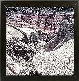 Frame USA Colorado Badlands-HARLAN74763 Print 12''x12'' by Harold Silverman - Landscapes in a Affordable Brazilian Walnut Medium
