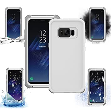 [Funda Sumergible] Fundas Movil para Galaxy S8 2017 Case , Sunroyal Funda Impermeable Samsung S8 2017 Carcasa TPU Goma Tocar Sensible - Resistente al ...