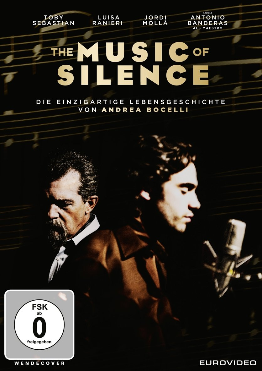 Cover: DVD-Biografie The music of silence - Die einzigartige Lebensgeschichte von Andrea Bocelli (1 DVD-Video, ca. 110 min)