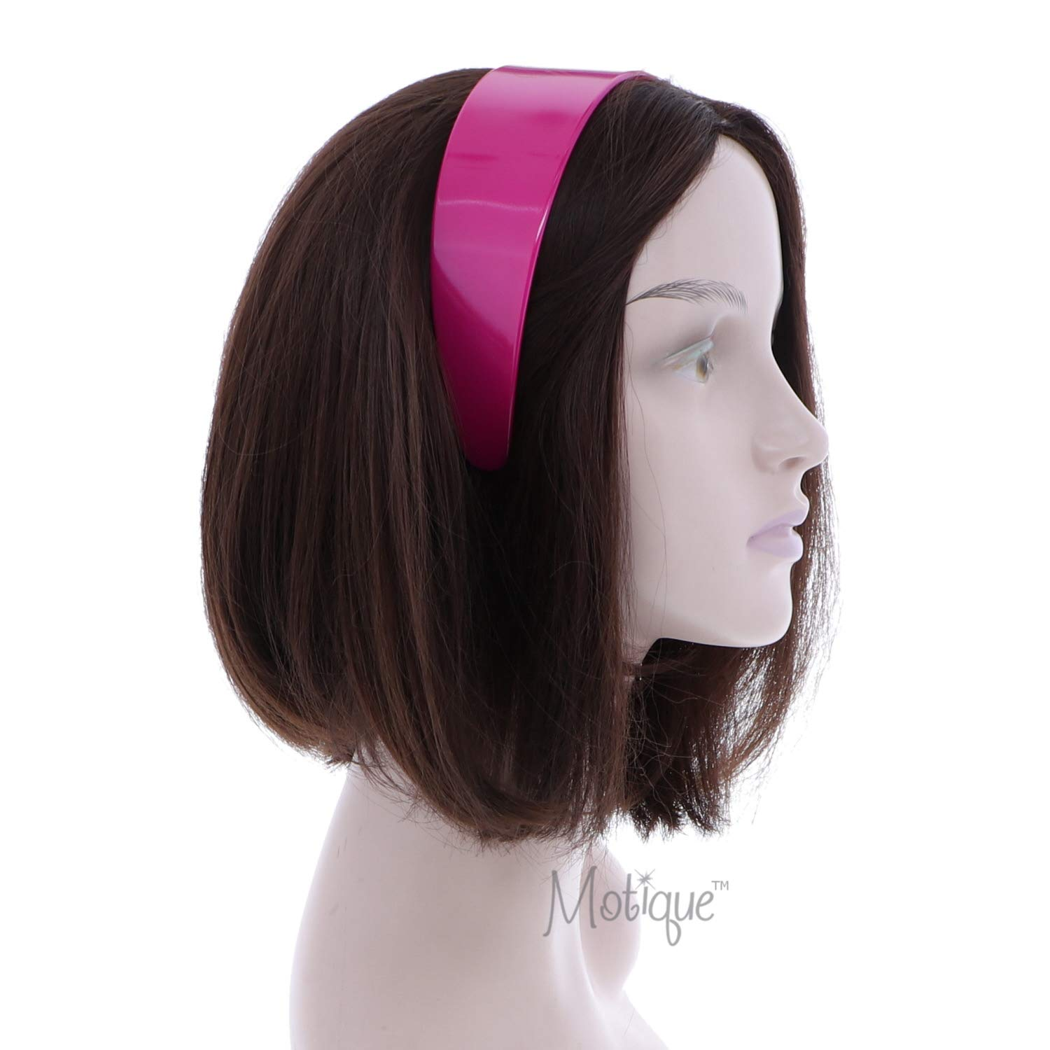 Girls Headband Hard Hot Pink Hairband with Teeth Classic Thin Head Band Details about  / 8