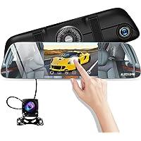 """AZDOME Specchietto Retrovisore Dash Cam Super Visione Notturna Starlight e 5.5"""" IPS Touch Screen Doppie telecamere Full HD 1080P + 720P, Registrazione in Loop e Monitor di Parcheggio - PG01"""