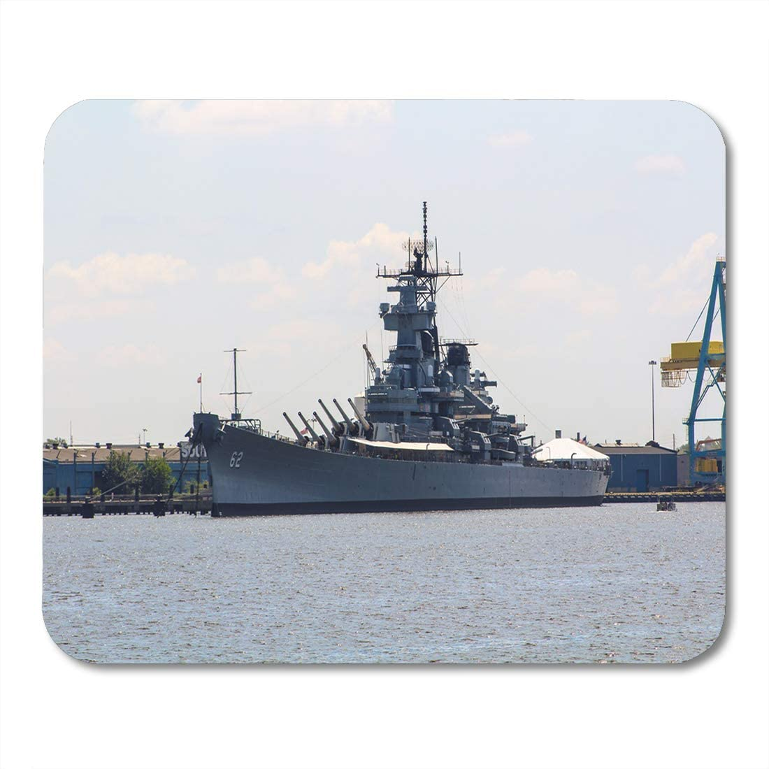 """Emvency Mouse Pads Pennsylvania Navy Warship in The Philadelphia Army Philly Mouse Pad for notebooks, Desktop Computers mats 9.5"""" x 7.9"""" Office Supplies"""
