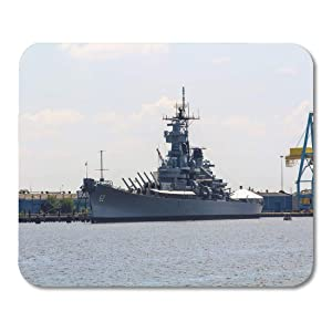 "Emvency Mouse Pads Pennsylvania Navy Warship in The Philadelphia Army Philly Mouse Pad for notebooks, Desktop Computers mats 9.5"" x 7.9"" Office Supplies"