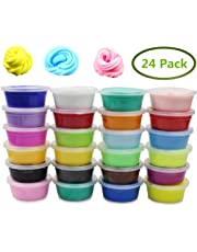 Jofan 24 Colors Fluffy Soft Super Light Clay Floam Slime Toy for Kids, DIY, Party Favors