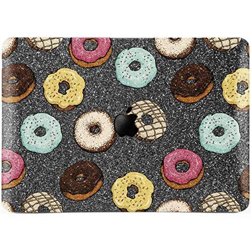 Lex Altern Glitter MacBook Case Pro 15 inch Air 13 12 11 2018 Doughnuts Gray Bling Mac 2017 A1990 Retina Cute Cover Hard Food Apple Rhinestone Gift 2016 Laptop Protective ()