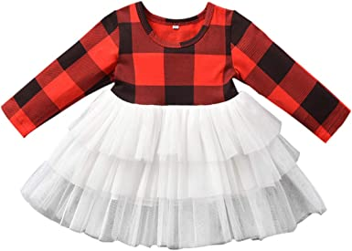 Amazon.com: Vestido de tutú para bebé, niña de Navidad ...
