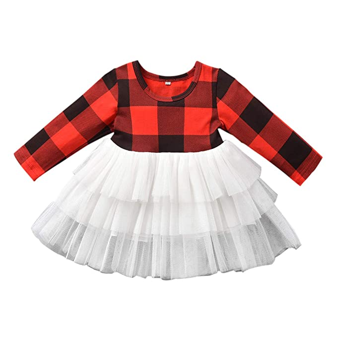 Amazon.com: Vestido de tutú para bebé, niña pequeña, traje ...