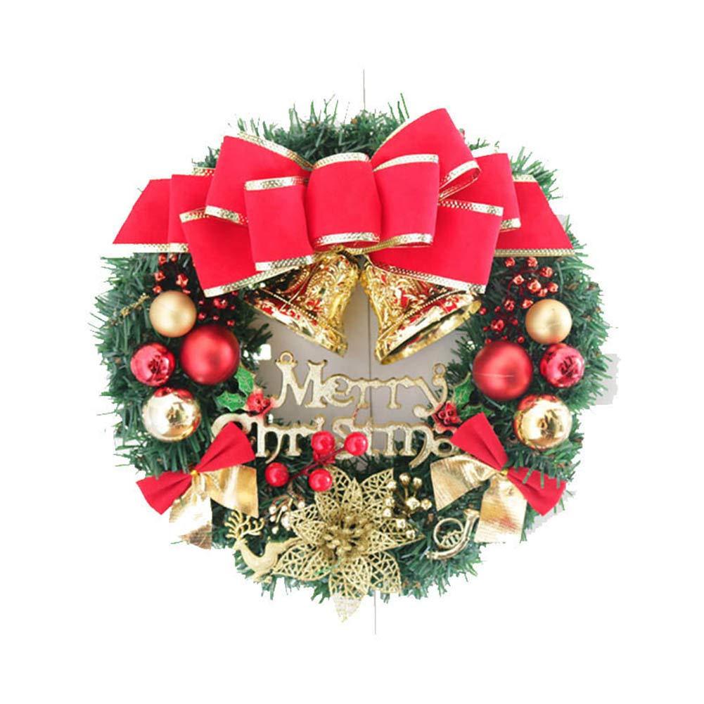 ZREAL Ghirlanda di Natale Ghirlanda di foglie verdi, ghirlanda decorativa, scatola regalo palla di Natale