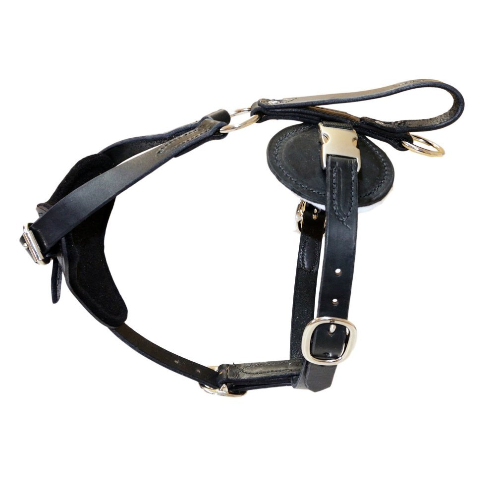Redline K9 Padded Leather Quick Release Dog Predection and Tracking Harness (X-Large)