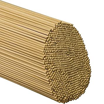 "Woodpecker Crafts Wooden Dowel Rods 500 Pieces for Crafts and DIY/'ers 1//4/"" x 36/"" Unfinished Hardwood Sticks"