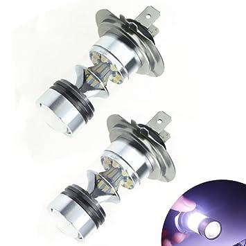 KATUR – 2 bombillas LED CREE 20SMD H7 de 100 W para niebla, bombillas para faros delanteros, bombillas para conducción diurna: Amazon.es: Coche y moto