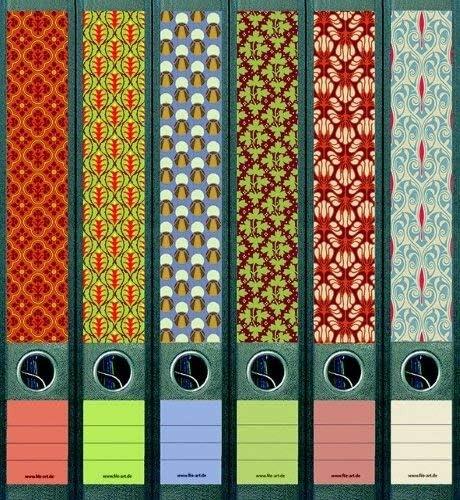 12 etichette larghe e 12 etichette strette collezione FA-AJ321+322+323+607+608 Etichette per dorsi di raccoglitori File Art als Kollektion