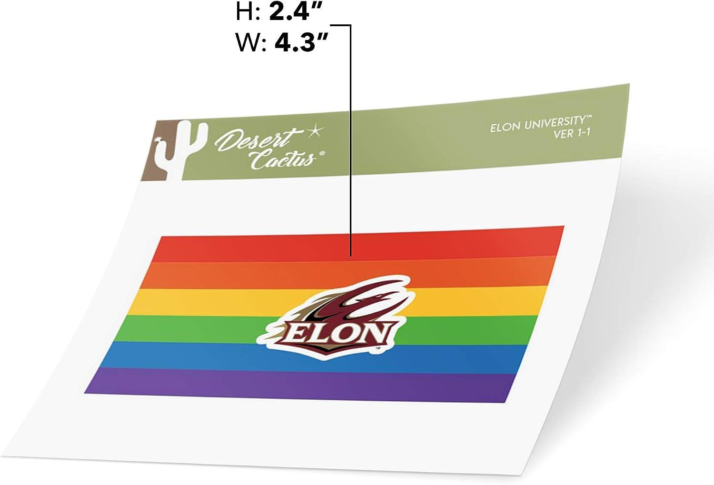 Elon University Phoenix NCAA Vinyl Pride Decal Laptop Water Bottle Car Scrapbook Gay Flag Logo Sticker