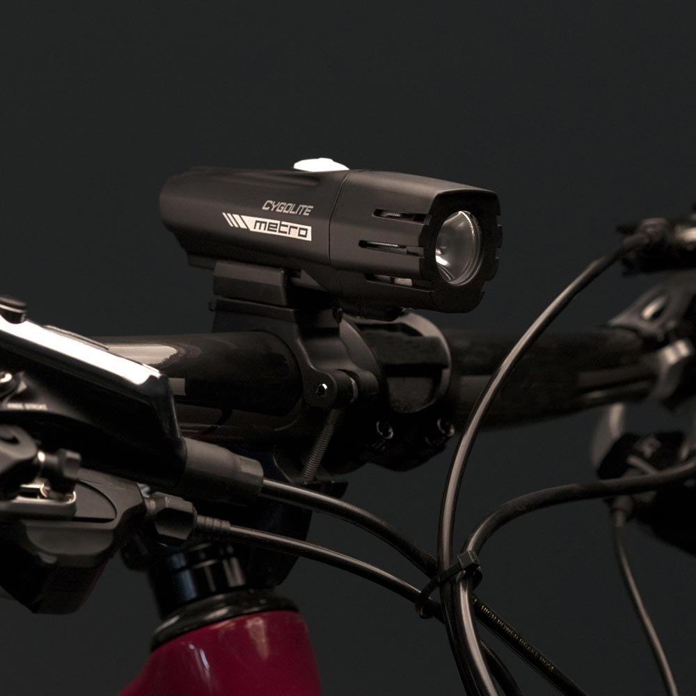 Cygolite Metro 400 USB Rechargeable Bike Light, Powerful 400 Lumen Bicycle Headlight for Road Cycling and Commuters, 6 Different Lighting Modes for Day and Night Safety by Cygolite (Image #3)