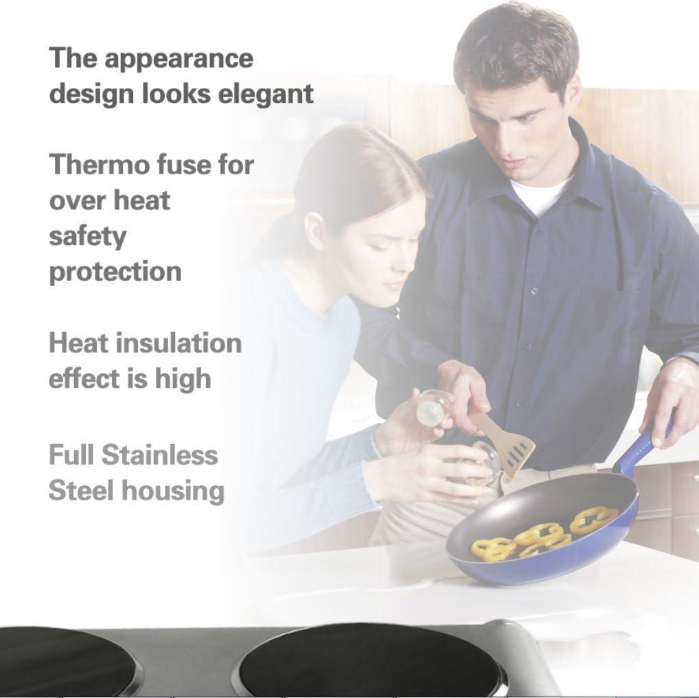 Techwood es-3201 C 2 quemador hornos eléctricos y vitrocerámicas ...
