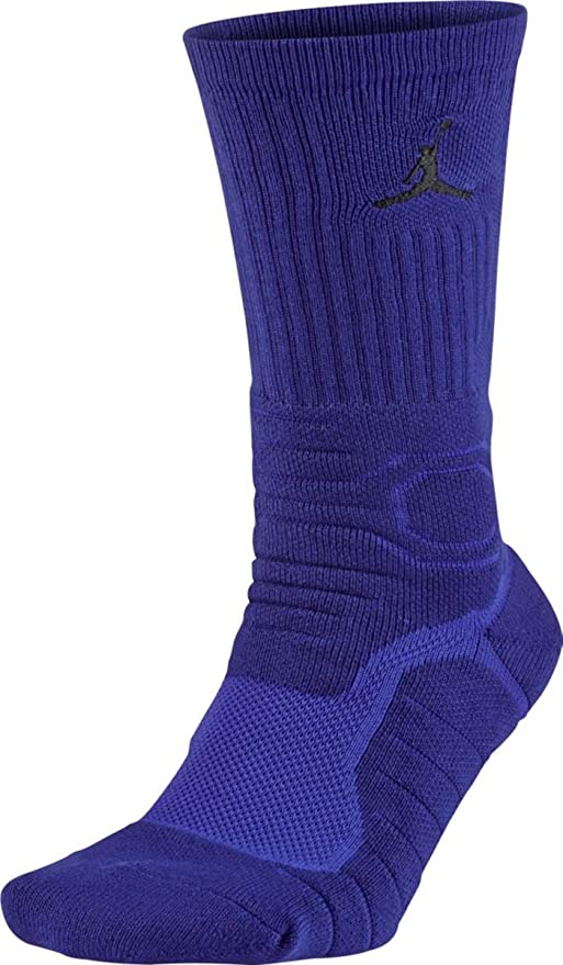 Nike Michael Jordan Ultimate Flight Crew Calcetines, Hombre, Morado (Concord/Black)